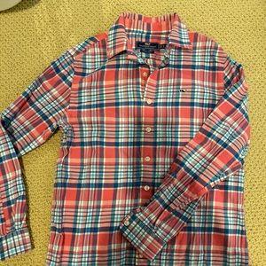 Boys flannel Whale shirt